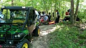 SLVFD's Gator and GATOR 79 standing by to transfer the patient to TROOPER 6